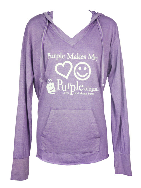 Purple Makes My Heart Happy Light Hoodie