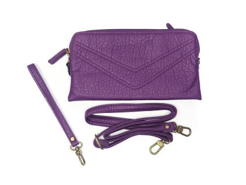 Purple  Wallet w/ Wrist and Cross Body Strap