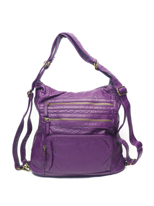 Convertible Soft Backpack/Cross Body Bag