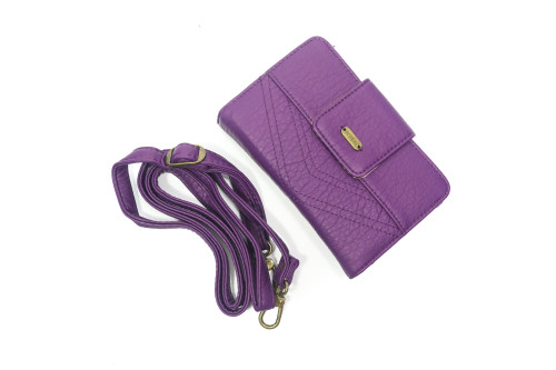 Purple Wallet w/ Cross body Strap