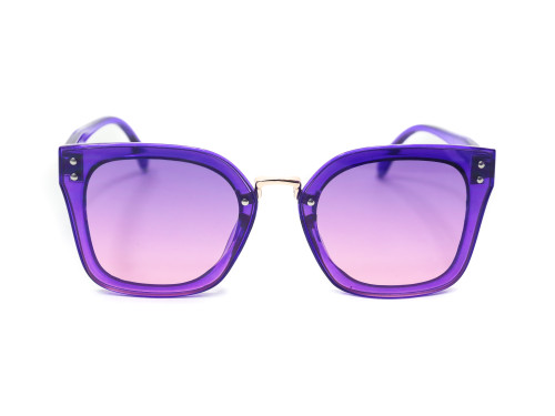 Wide Rimmed Purple Tinted Sunglasses