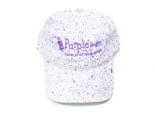 Purple Splatter Baseball Cap