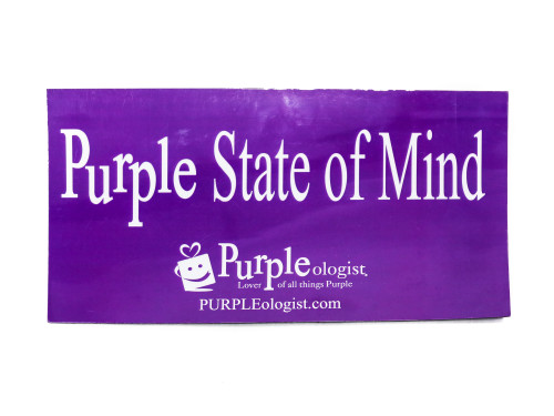Purple State of Mind Car Magnet