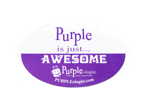 Purple is Awesome Car Magnet