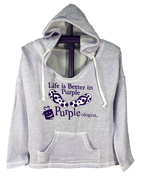 Life Is Better In Purple Loose Neck Hoodie