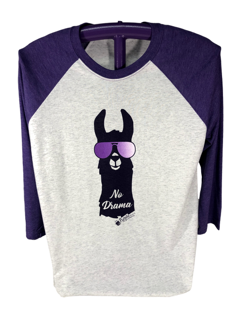 No Drama Llama Scoop Neck Long Sleeve Shirt