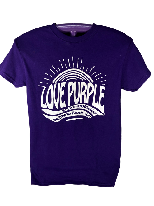Love Purple Groovy Scoop Neck T-Shirt