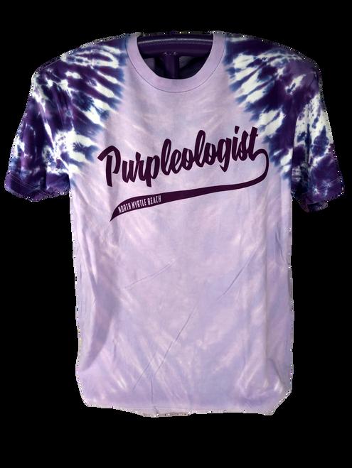 Purpleologist Tie Dye Crew Neck Baseball Tee