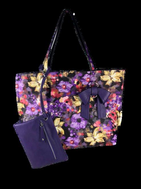Sparkling Floral Fashion Tote Bag