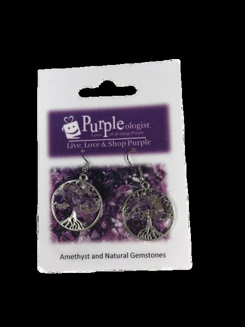 Tree of Life Gemstones Earrings