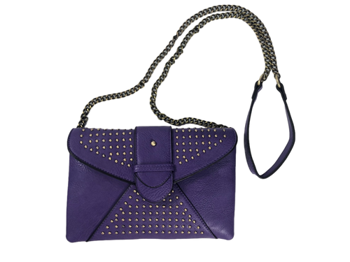 Crossbody Studded Metal Chain Purse