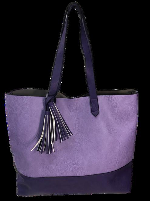 Two Toned Tote Tassel Bag