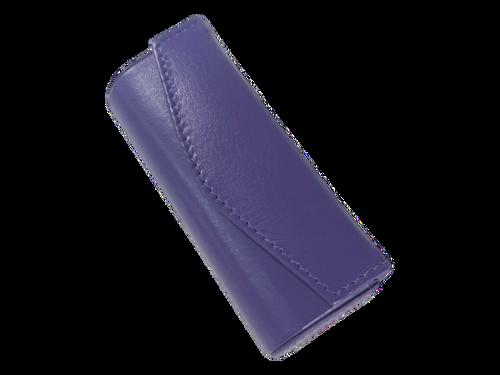 Solid Purple Metal Snap Lipstick Case