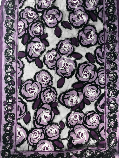 Contemporary Rose Patterned Scarf