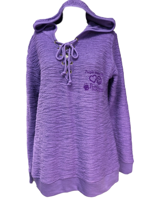 Purple Drawstring Logo Hoodie