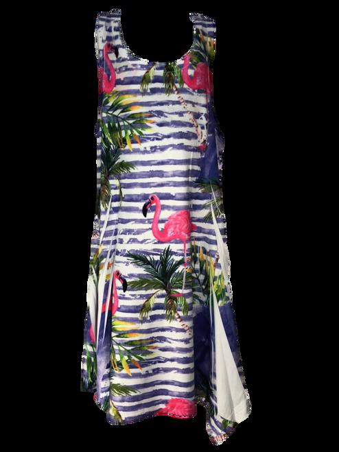 Palm and Flamingo Girl Dress