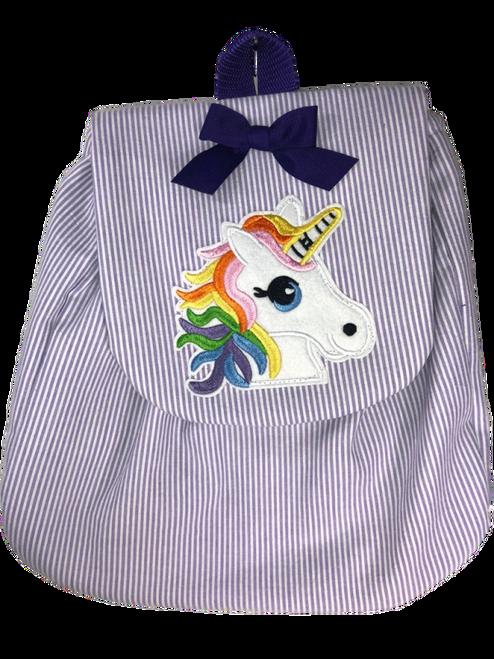 Purple Stripe Unicorn Backpack