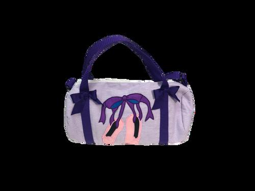 Purple Stripe Ballet Travel Bag