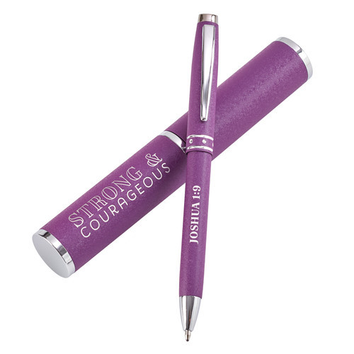 Purple Gift Pen Joshua 1:9