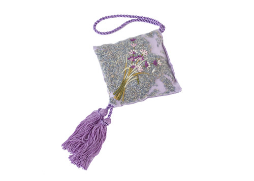 Embroidered Lavender Hanging Sachet