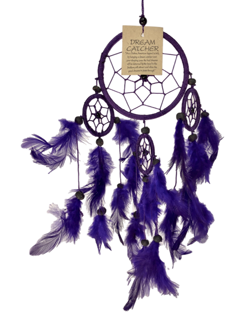 Four Ring Purple Woven Dreamcatcher