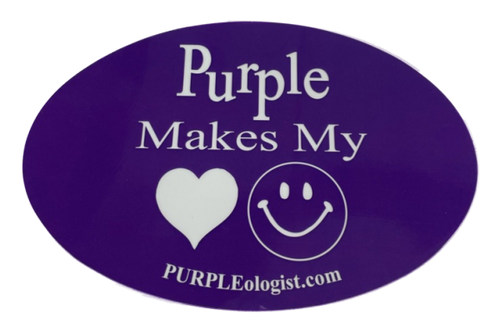 Purple Makes Me Happy Magnet