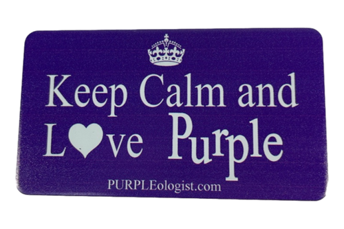 Keep Calm and Love Purple Magnet