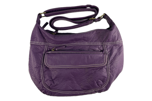 Small Faux Leather Purple Purse