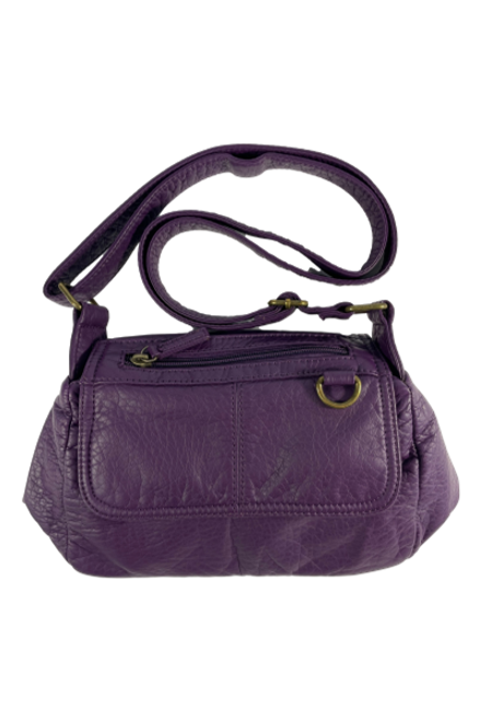 Crossbody Faux Leather Purple Purse