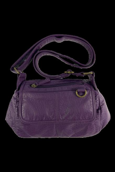 Crossbody Faux Leather Purple Purse