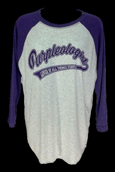 Purple Logo Baseball Mid Length Sleeve Shirt
