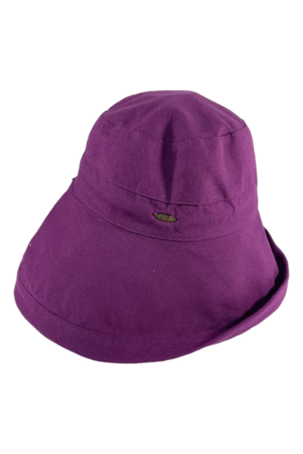 Purple Cotton Sunshade Hat