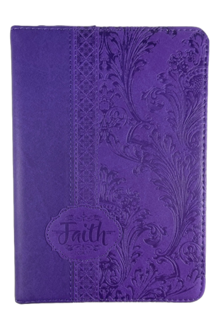 Purple Zipper Faith Journal