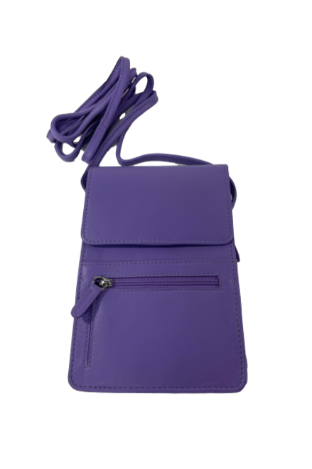 Purple Crossbody Organizer Purse