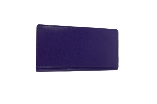 Royal Purple Leather Wallet