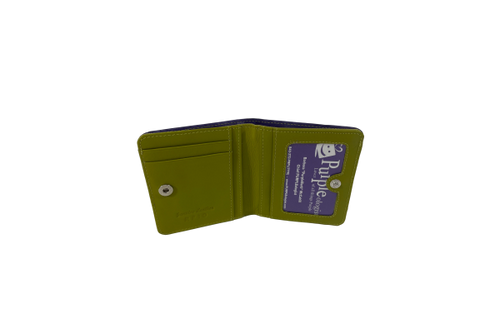 Mini Purple and Moss Green Wallet