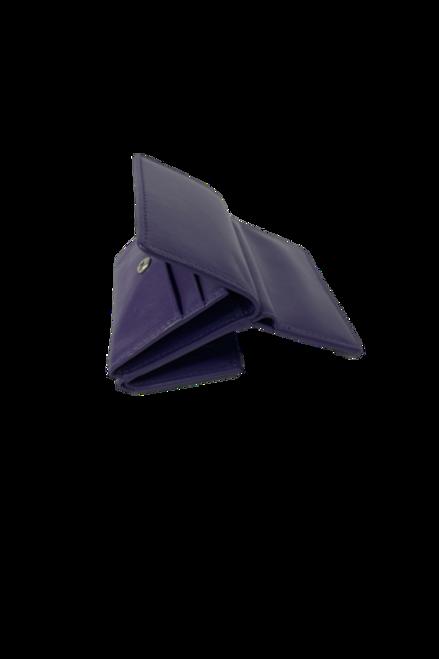 Mini Leather Purple Wallet