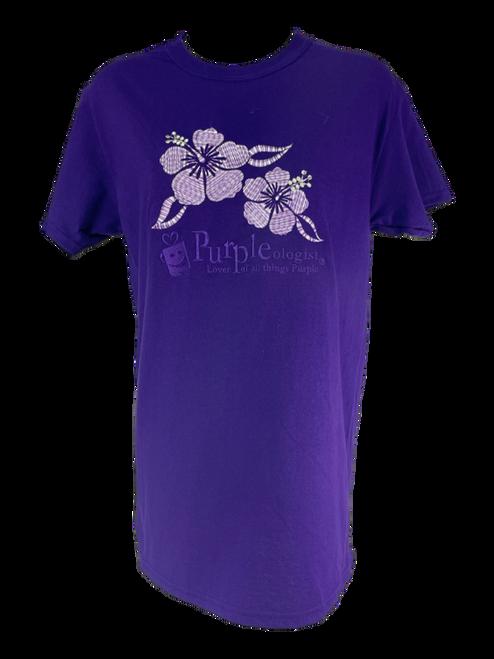 Hibiscus Pattern Logo T-Shirt