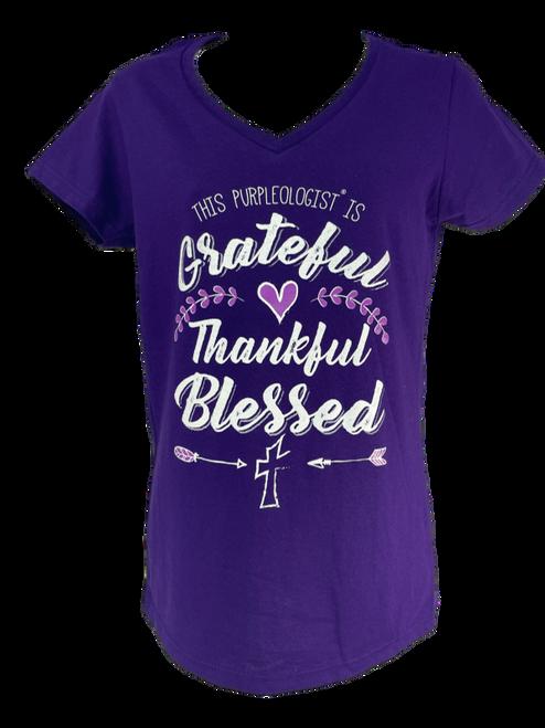 Grateful Thankful Blessed Logo V-Neck Shirt