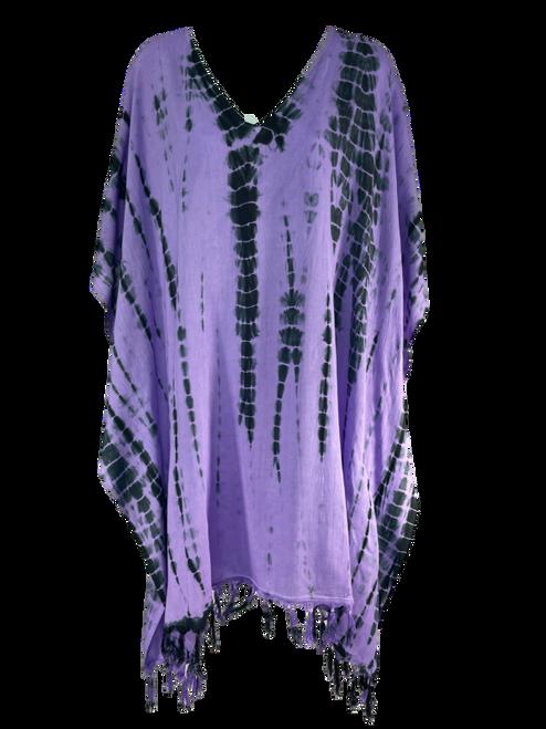 Purple Tie Dye Poncho