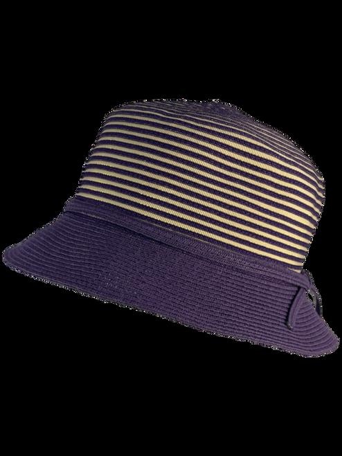 Purple Ribbon Crown Hat