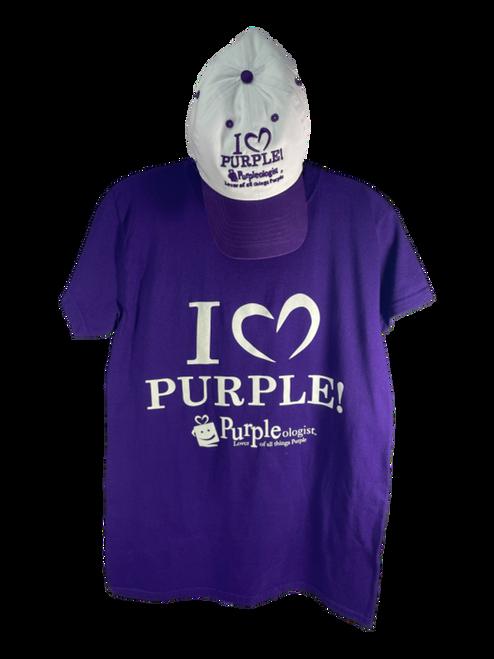 Deep Purple Cap and T-Shirt Combo