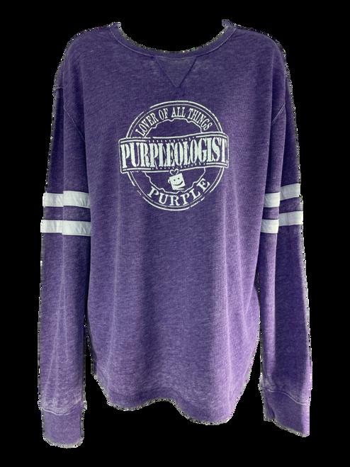 Logo Purple Washed Long Sleeve Shirt