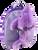 Purple Dolphin Pal Plush Backpack