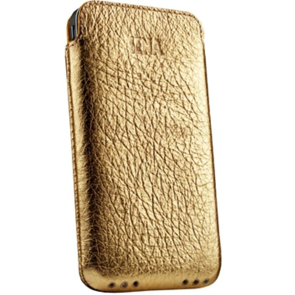 size 40 4f264 d95f3 Sena UltraSlim Genuine Leather Pouch for iPhone 4 / 4S - Gold
