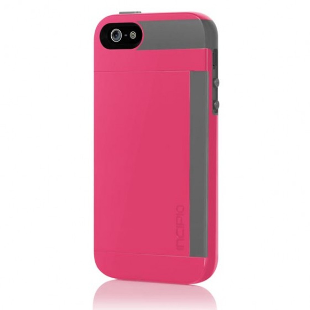competitive price d4fe7 e0196 Incipio Stowaway iPhone 5 Case - Pink / Gray