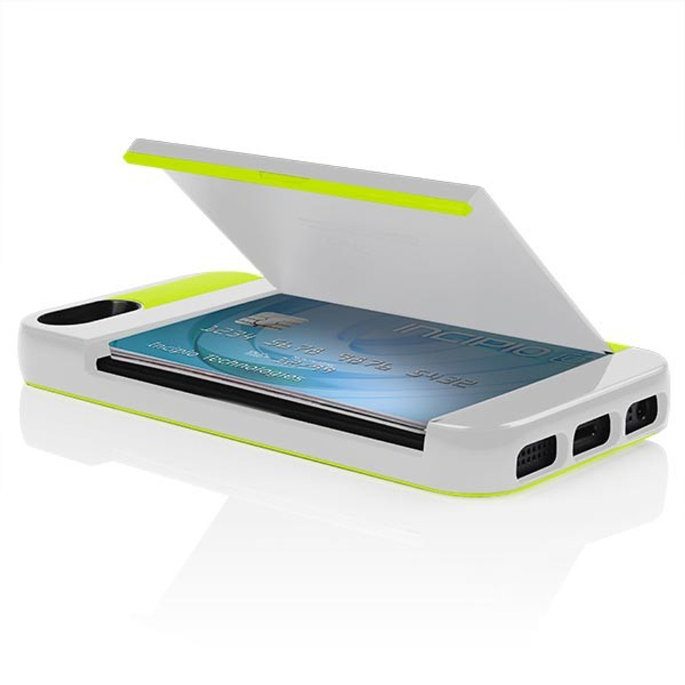 finest selection af25c 0fd48 Incipio Stowaway iPhone 5S / 5 Case - White / Lime