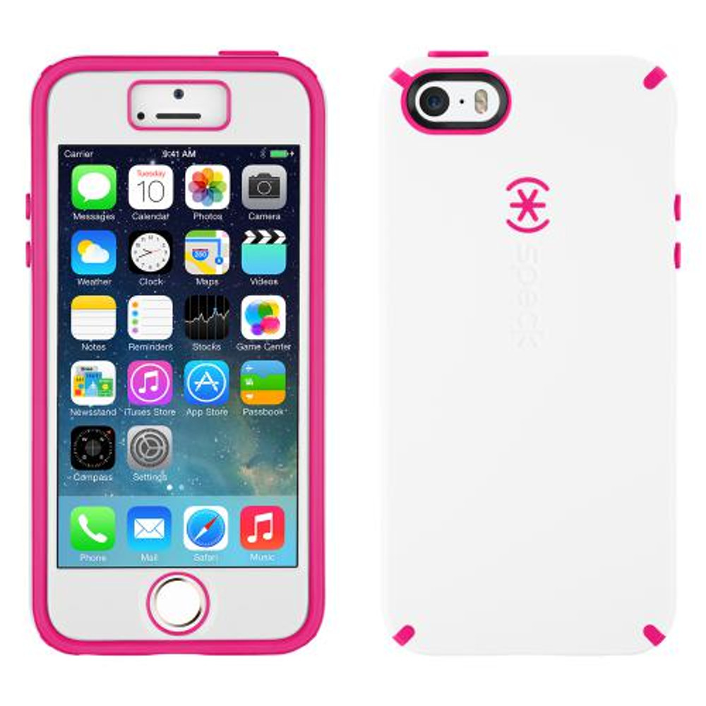 cheap for discount 77ee9 aaf09 Speck CandyShell + FACEPLATE for iPhone 5S / 5 - White / Pink