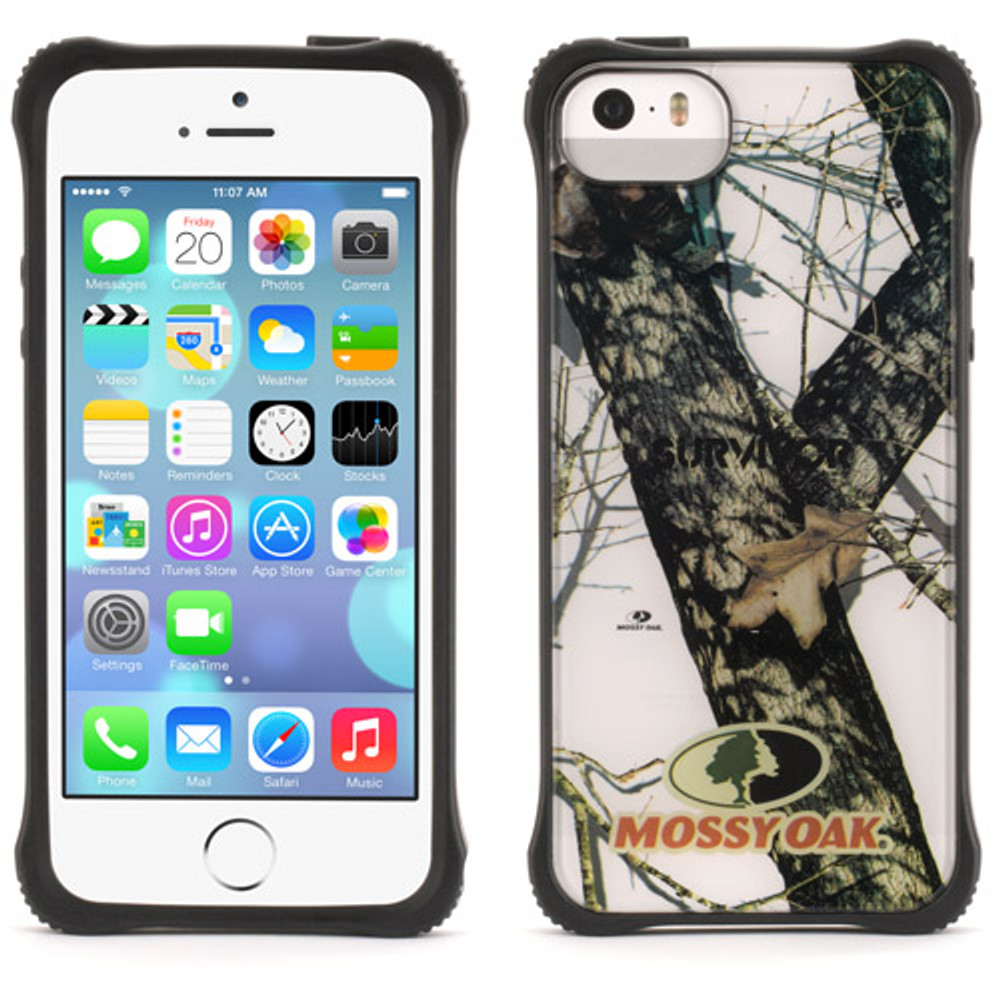 sports shoes 208c5 6805c Griffin Survivor Clear for iPhone 5S / 5 - Mossy Oak Winter Breakup