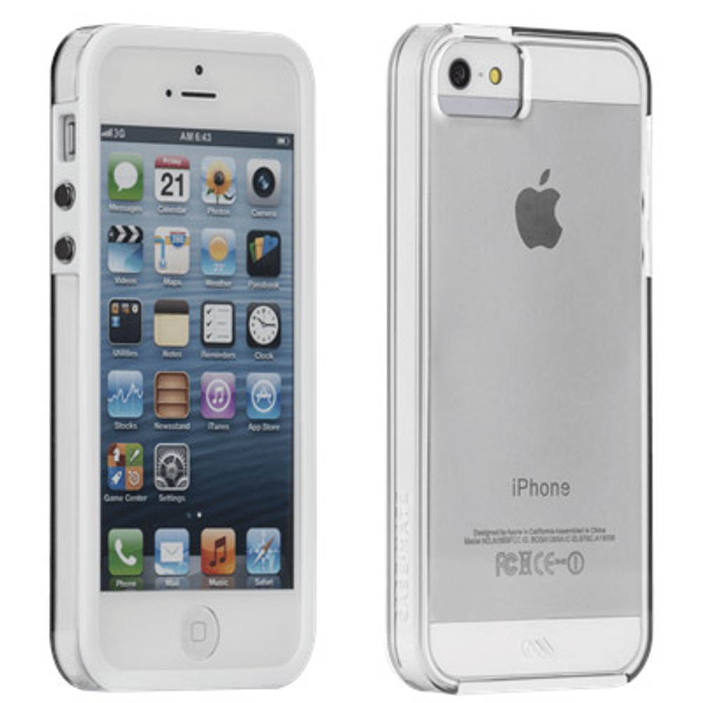 best sneakers f4980 4d5f1 Case-Mate Naked Tough Case for iPhone 5S / 5 - Clear / White Bumper